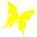 黄色の蝶ツイッター用サムネ ツイッター Twitter のアイコン サムネ フリー配布