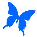 水色の蝶のアイコン追加 ツイッター Twitter のアイコン サムネ フリー配布
