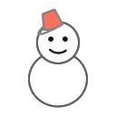 雪だるまのツイッターアイコン ツイッター Twitter のアイコン サムネ フリー配布