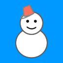 雪だるま 背景水色 のアイコン ツイッター Twitter のアイコン サムネ フリー配布